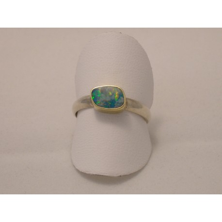 Gold & Silver ring with Opal