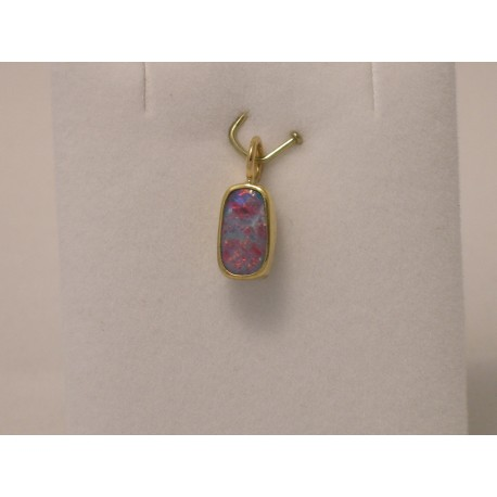 Gold & Silver pendant with Opal